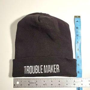 Troublemaker Dollskill black beanie hat